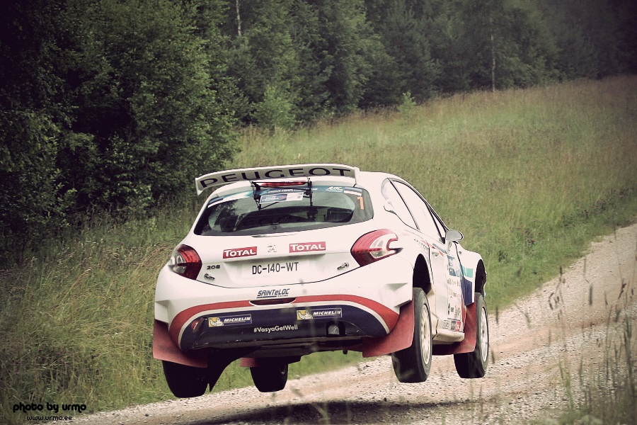Craig Breen - Scott Martin (Peugeot 208 T16) @ Rally Estonia 2015