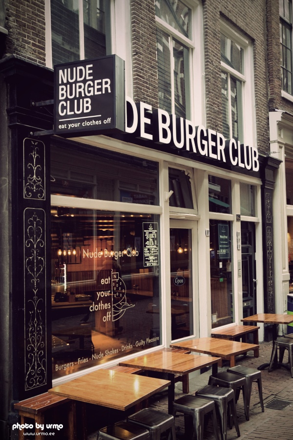 Nude Burgers Club   eat your clothes off @ Amsterdam, Netherlands